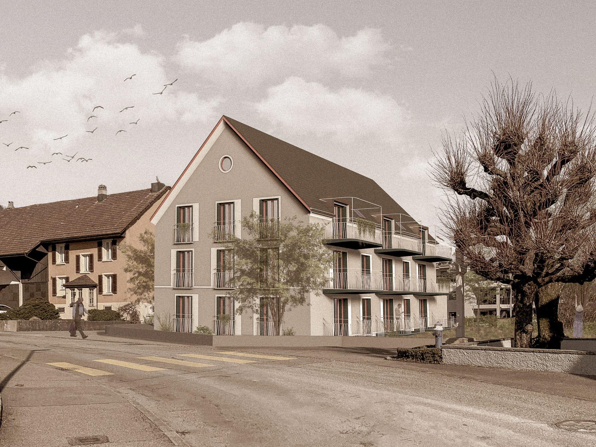 Stierli Architekten AG Aarau — Projekt Alterswohnungen Wangen b. Olten